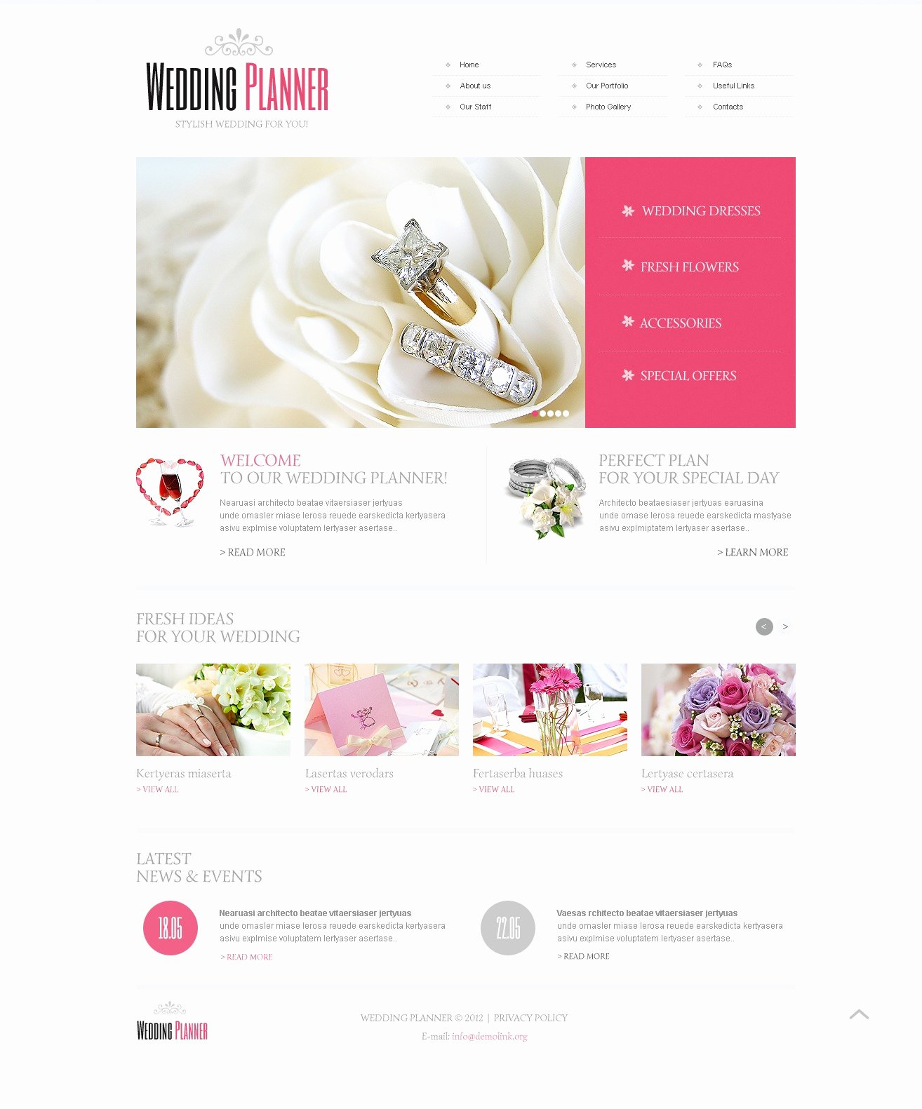 Event Planner Website Template Awesome Wedding Planner Website Template