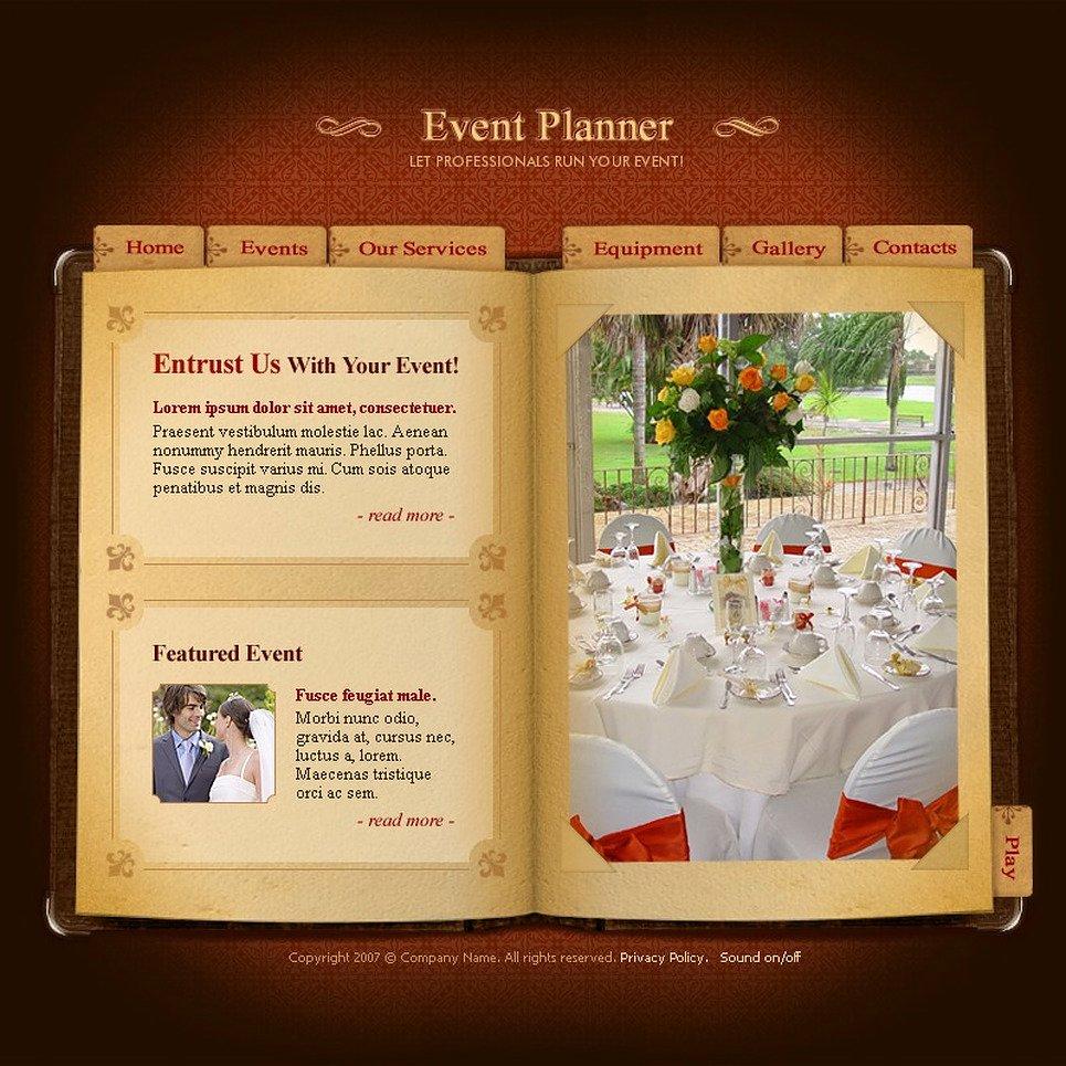 Event Planner Website Template Beautiful event Planner Flash Template