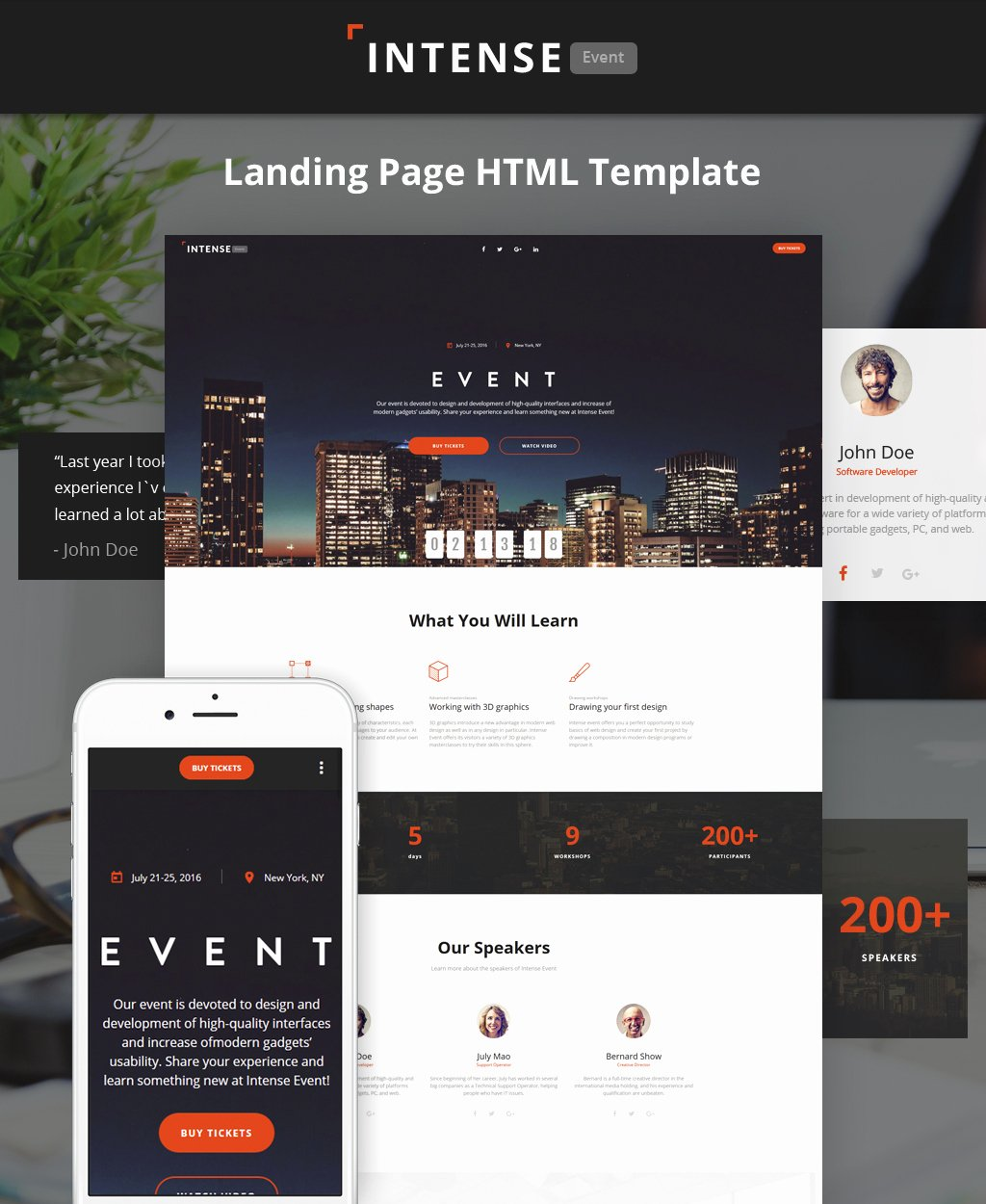 Event Planner Website Template Beautiful event Planner HTML5 Template