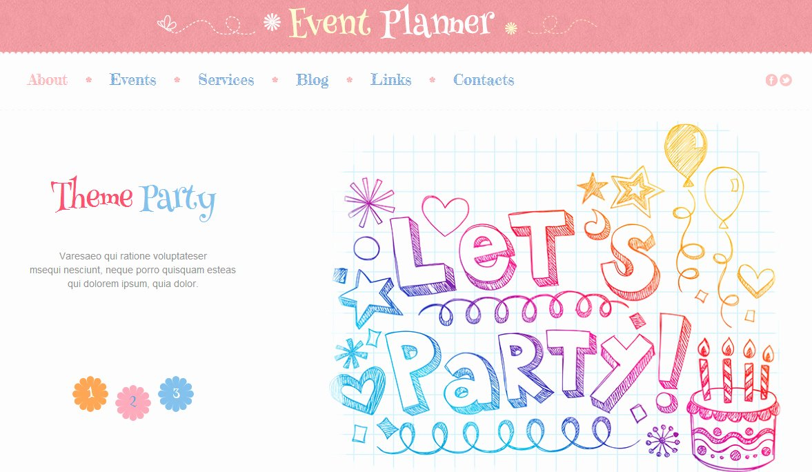 Event Planner Website Template Best Of Best Party Wordpress theme and event Planning Website
