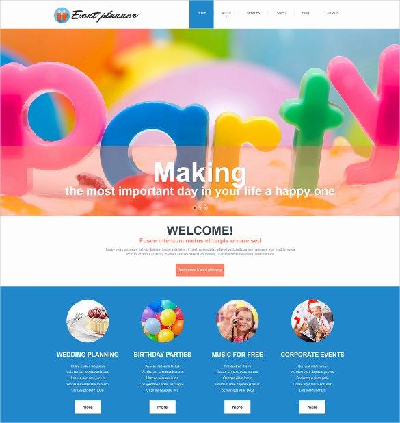 Event Planner Website Template Elegant 21 event Website themes & Templates