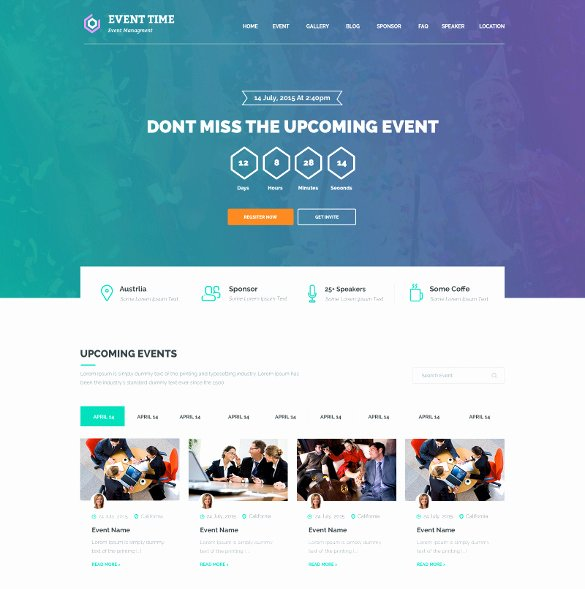 Event Planner Website Template Elegant 33 event Planning Website themes & Templates