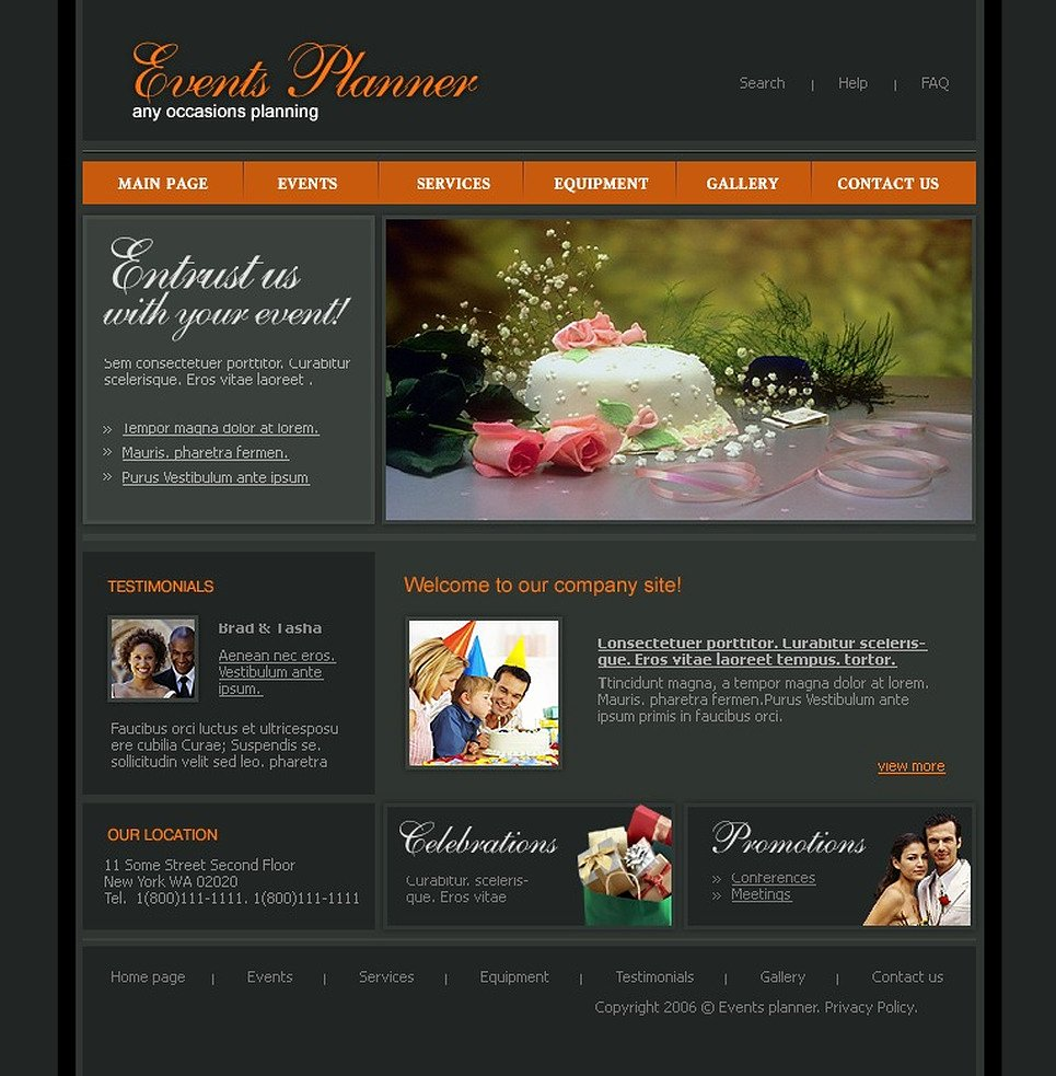 Event Planner Website Template Fresh event Planner Website Template