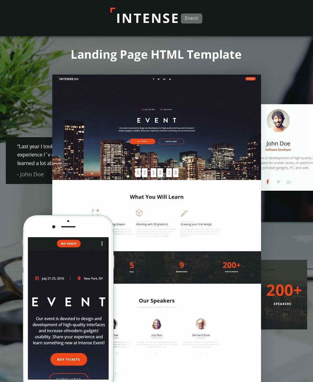 Event Planner Website Template Inspirational event Management Website Templates Bootstrap Free Intense