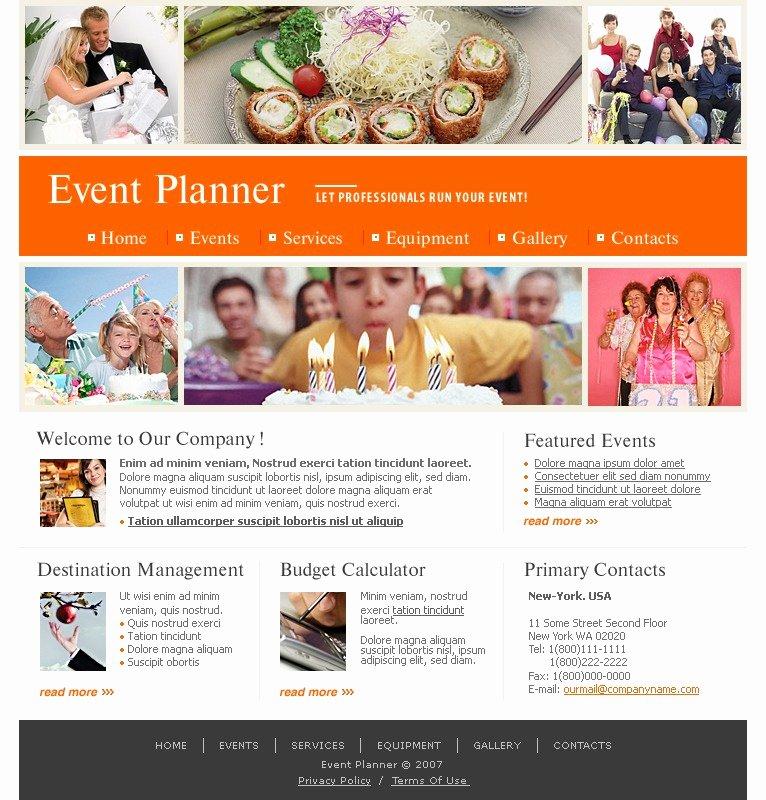 Event Planner Website Template Inspirational event Planner Website Template