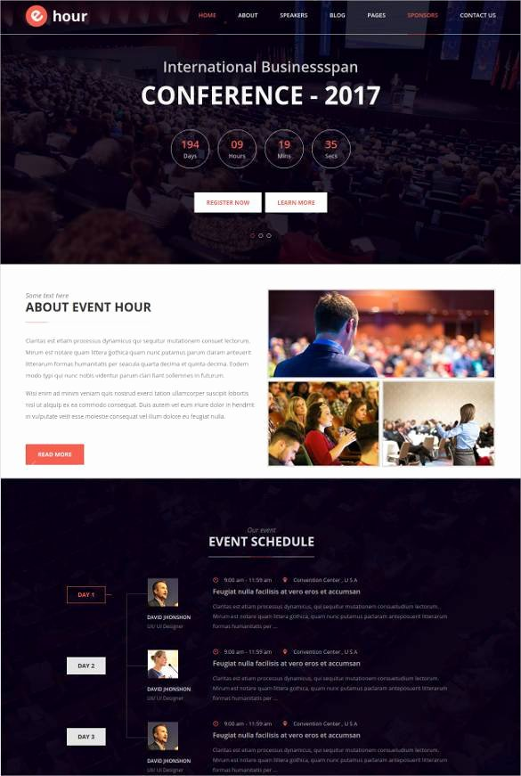 Event Planner Website Template Lovely 33 event Planning Website themes & Templates