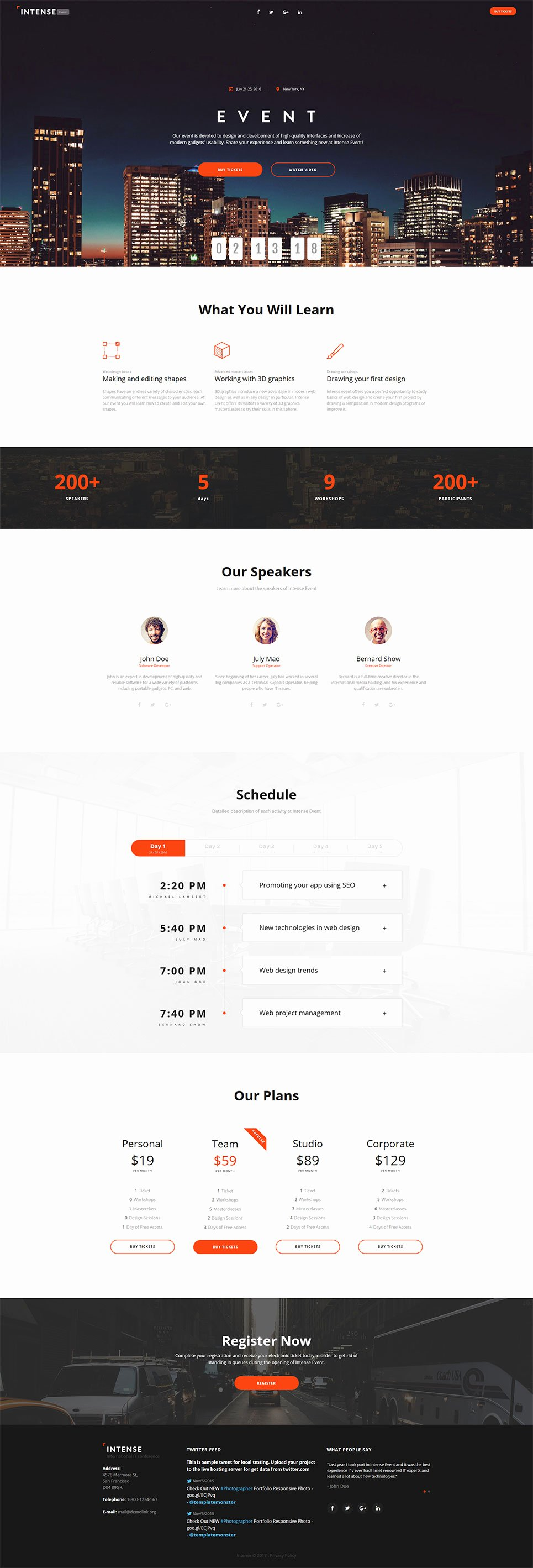 Event Planner Website Template Luxury event Planner HTML5 Template