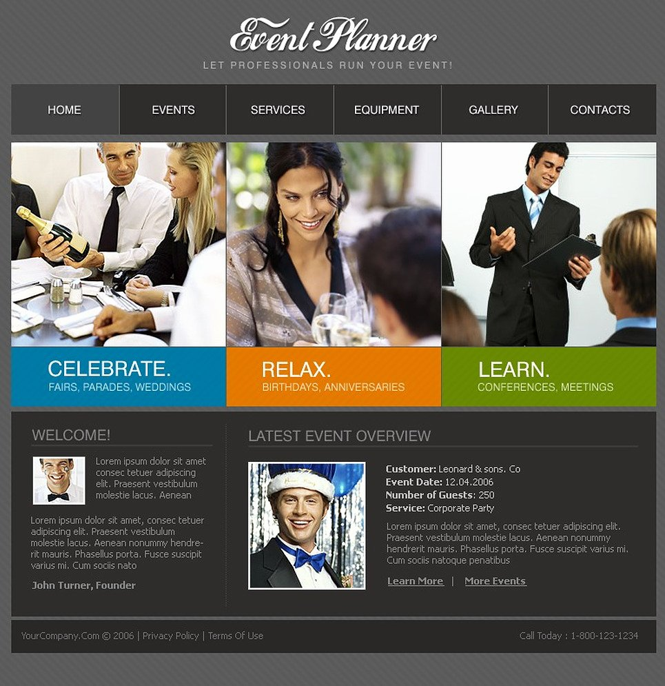 Event Planner Website Template Luxury event Planner Website Template Web Design Templates