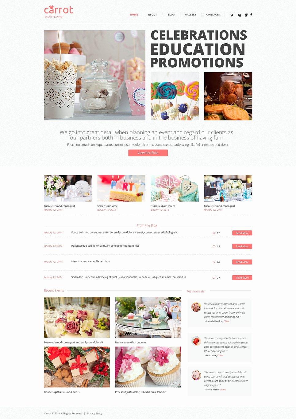Event Planner Website Template Luxury event Planner Wordpress theme
