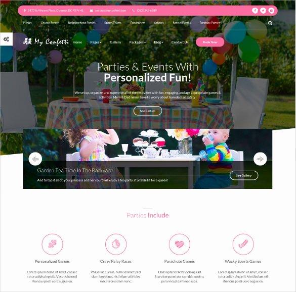 Event Planner Website Template Unique 33 School Website themes & Templates