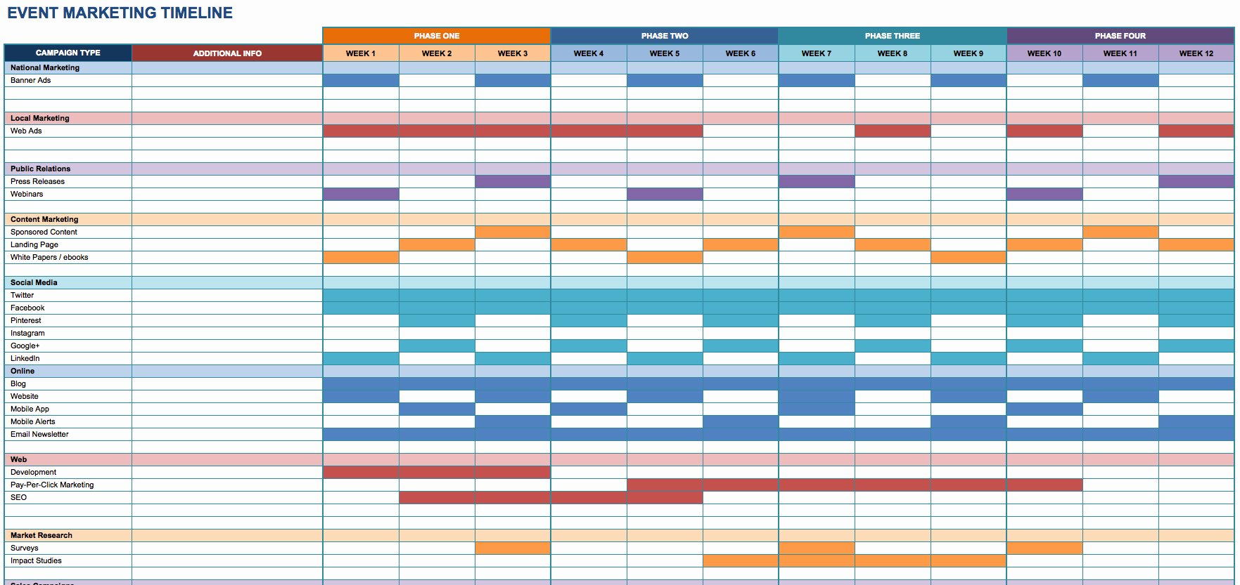 Event Planning Calendar Template Best Of event Timeline Template Excel
