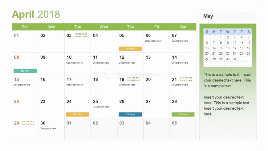Event Planning Calendar Template Elegant event Planning Calendar Template Slidemodel