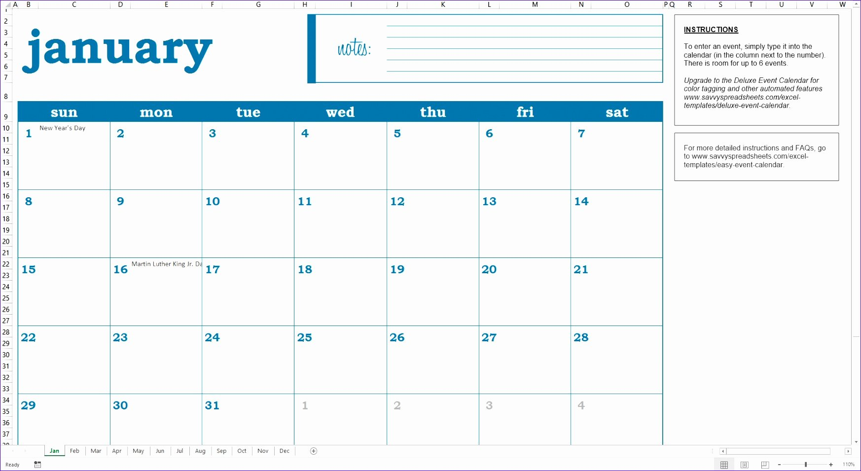 Event Planning Calendar Template Fresh 10 Planning Calendar Template Excel Exceltemplates