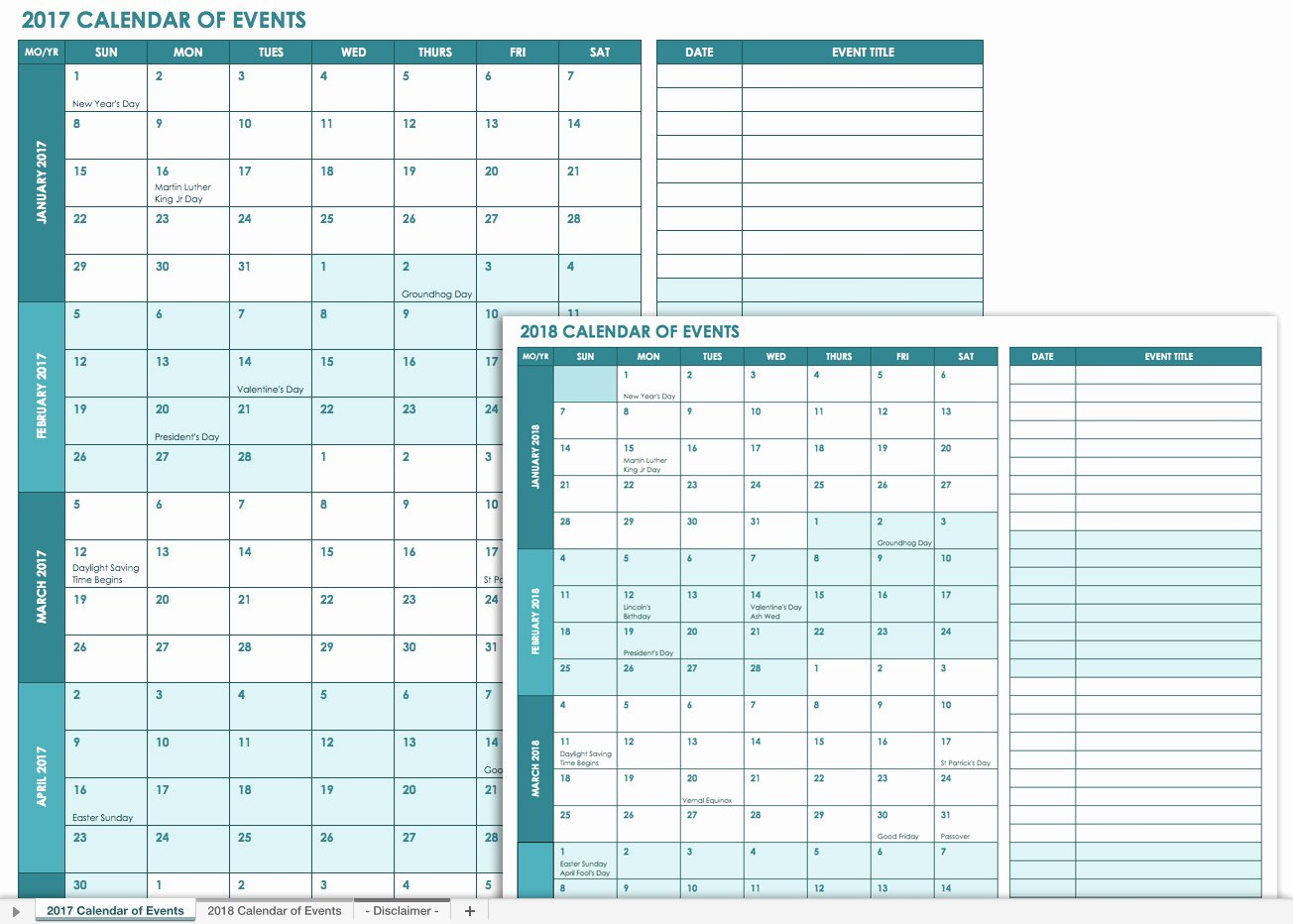 Event Planning Calendar Template Lovely 21 Free event Planning Templates