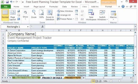 Event Planning Calendar Template Unique Free event Planning Tracker Template for Excel