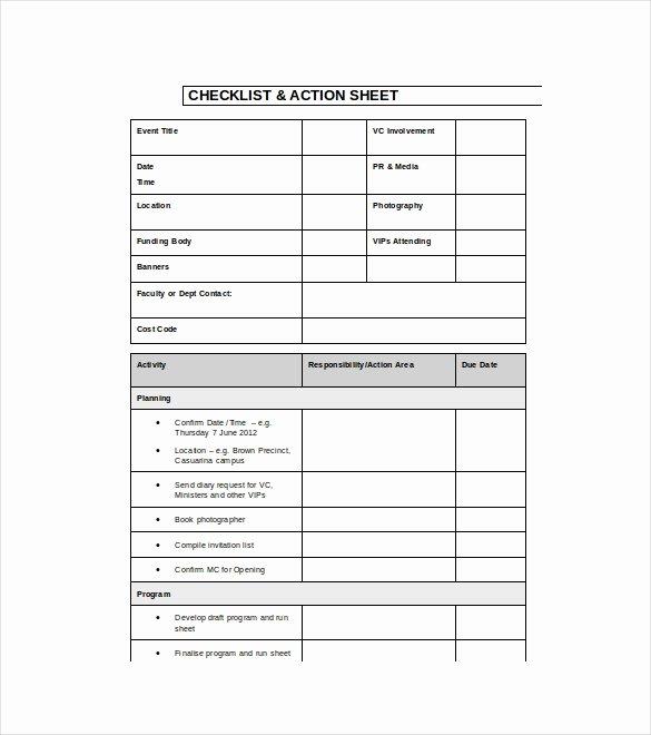 Event Planning Checklist Template Elegant 18 event Checklist Templates Pdf Doc