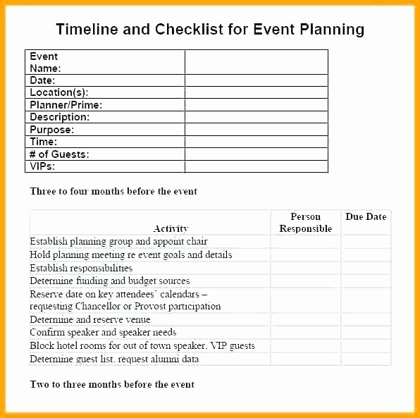 Event Planning Checklist Template Excel Awesome event Management Checklist to Do List organizer Checklist