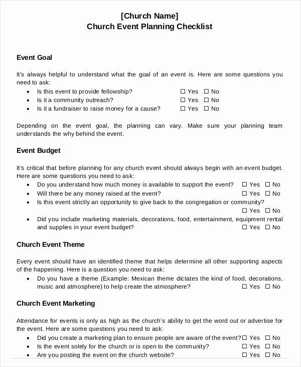 Event Planning Checklist Template Inspirational event Planning Checklist 11 Free Word Pdf Documents