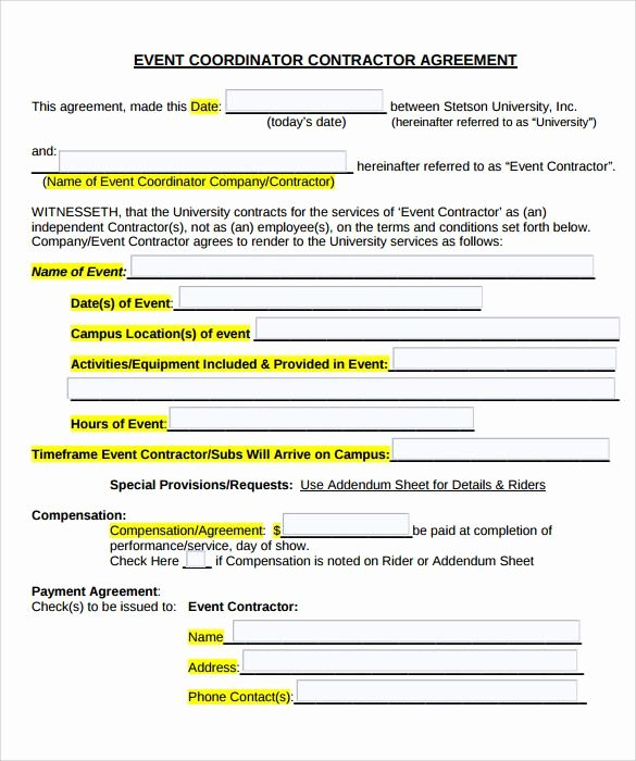 Event Planning Contract Template Elegant Image Result for Contracts for event Planners Templates