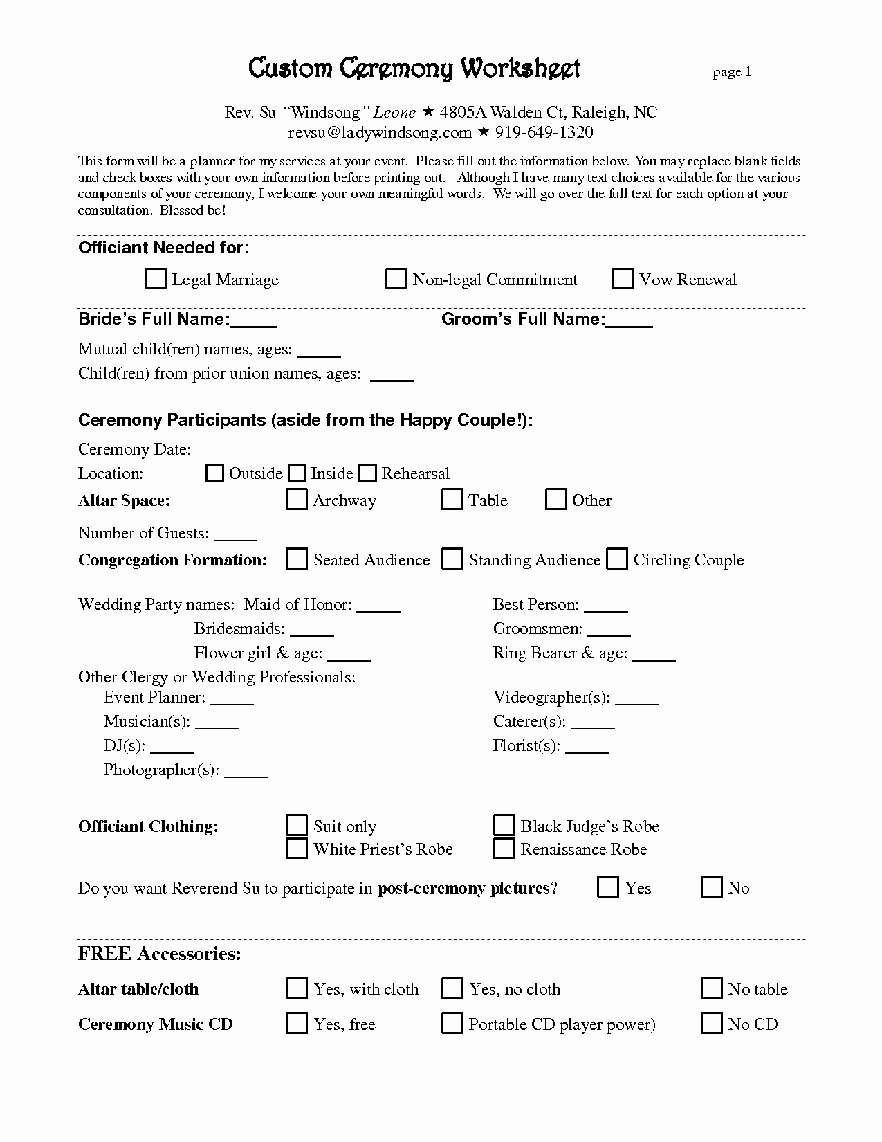 Event Planning Contract Template Free Inspirational 7 Best Of Printable Wedding Planner Contract