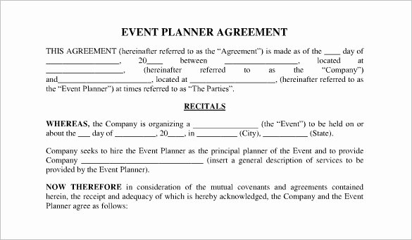 Event Planning Contract Template Free New event Contract Template 19 Word Excel Pdf Documents
