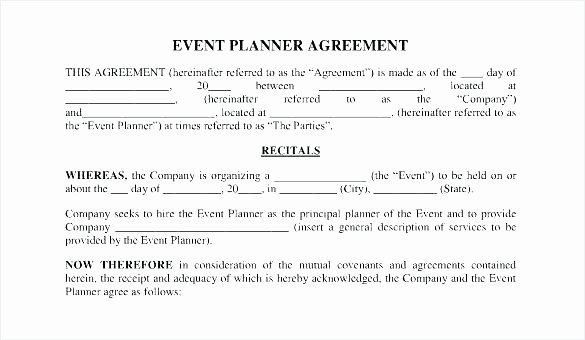 Event Planning Contract Template Free Unique Bcfaefaefcca Wedding Planner Fice event Planning