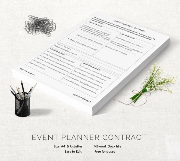 Event Planning Contract Template Lovely event Contract Template 18 Free Word Excel Pdf
