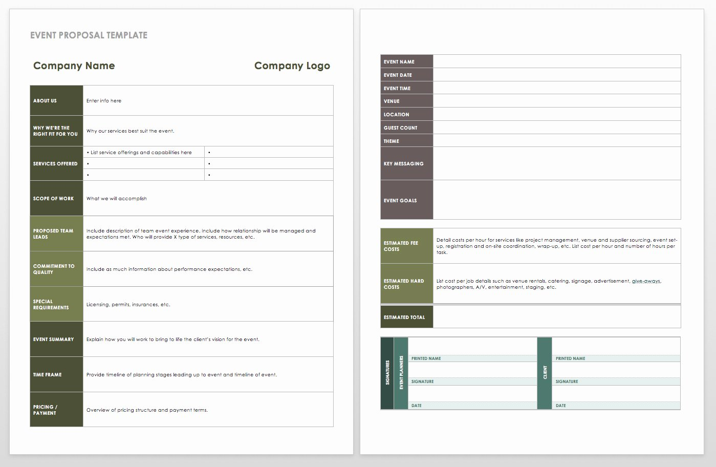Event Planning Document Template Beautiful 21 Free event Planning Templates