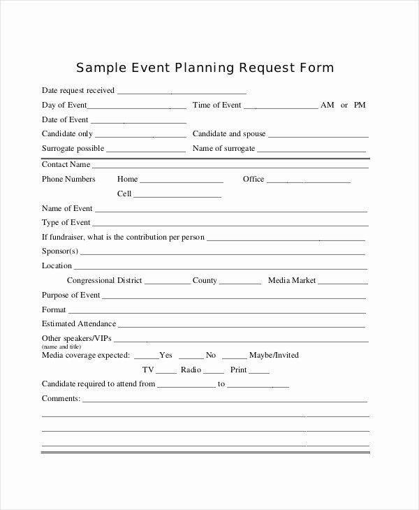 Event Planning form Template Awesome 14 Sample event Request forms