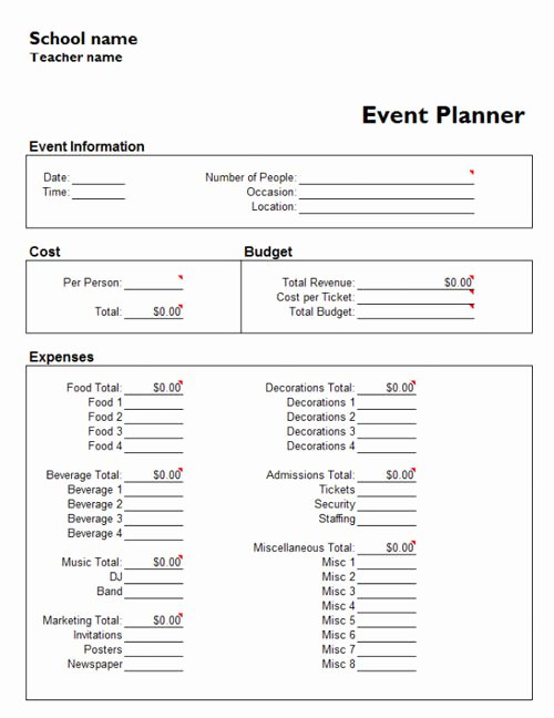 Event Planning form Template Fresh Useful Microsoft Word & Microsoft Excel Templates Hongkiat