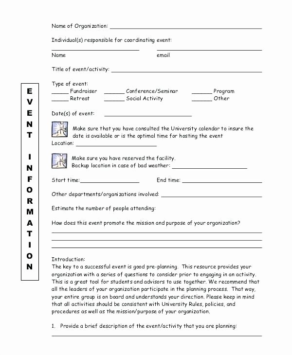 Event Planning form Template Lovely Free Seminar Checklist Template event Planning form E
