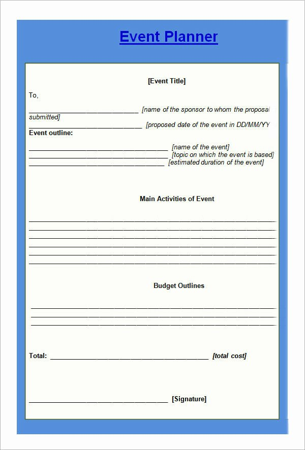 Event Planning form Template Luxury 10 Sample event Planning Templates – Pdf Ppt Doc