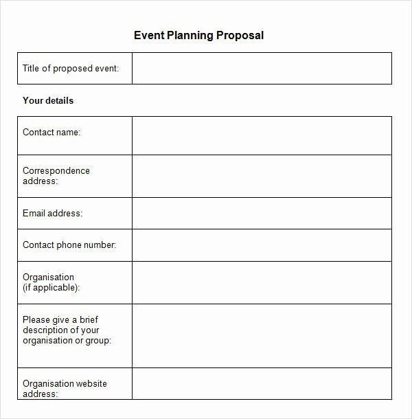 Event Planning form Template Luxury event Planner Proposal Template Templates Resume