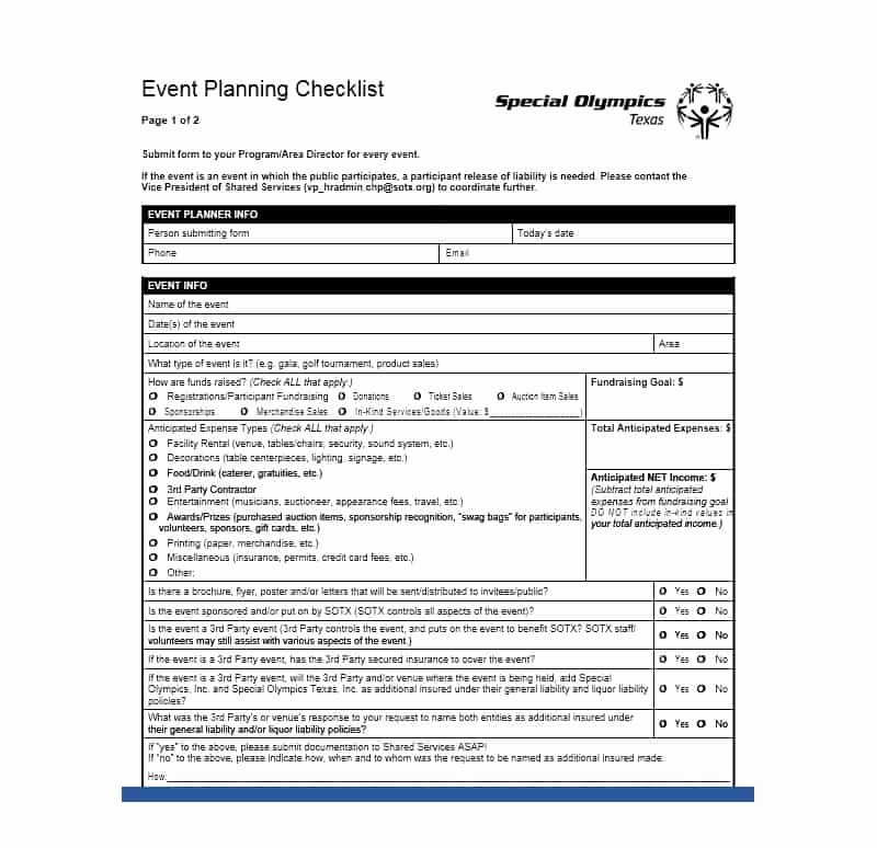 Event Planning form Template New 50 Professional event Planning Checklist Templates