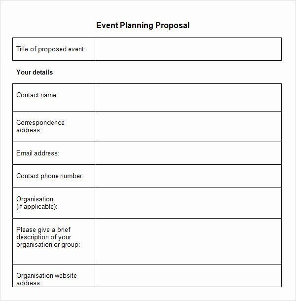 Event Planning form Template New Sample event Proposal Template 15 Free Documents In Pdf