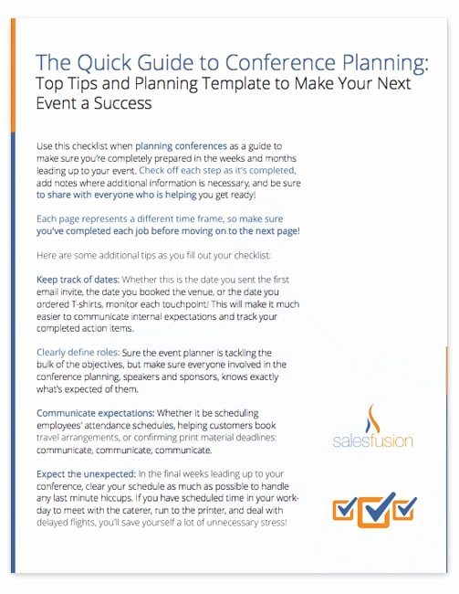 Event Planning Guide Template Beautiful Conference Planning Guide top Tips and Planning Template