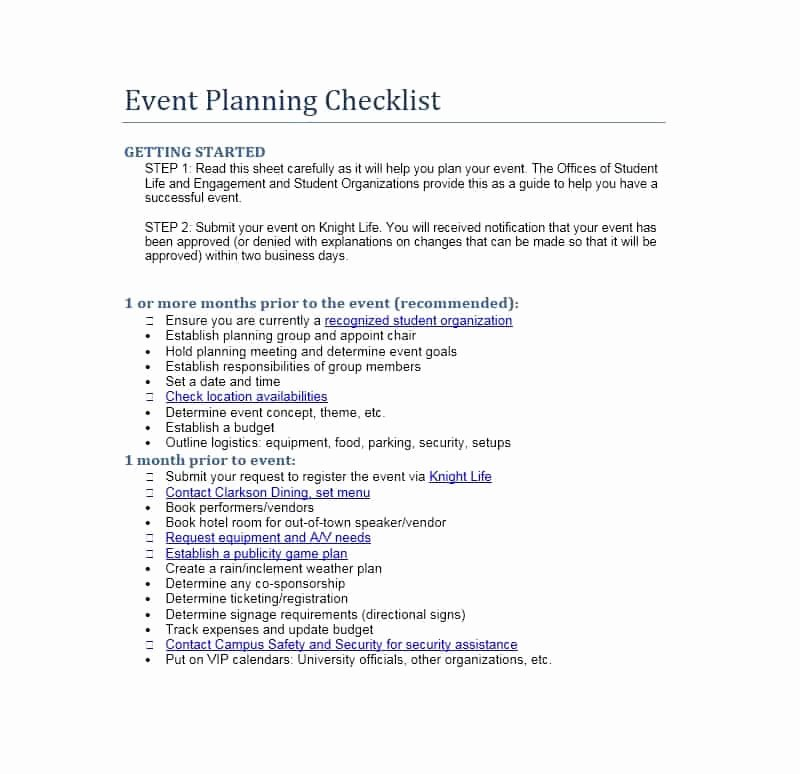 Event Planning Guide Template Luxury 50 Professional event Planning Checklist Templates