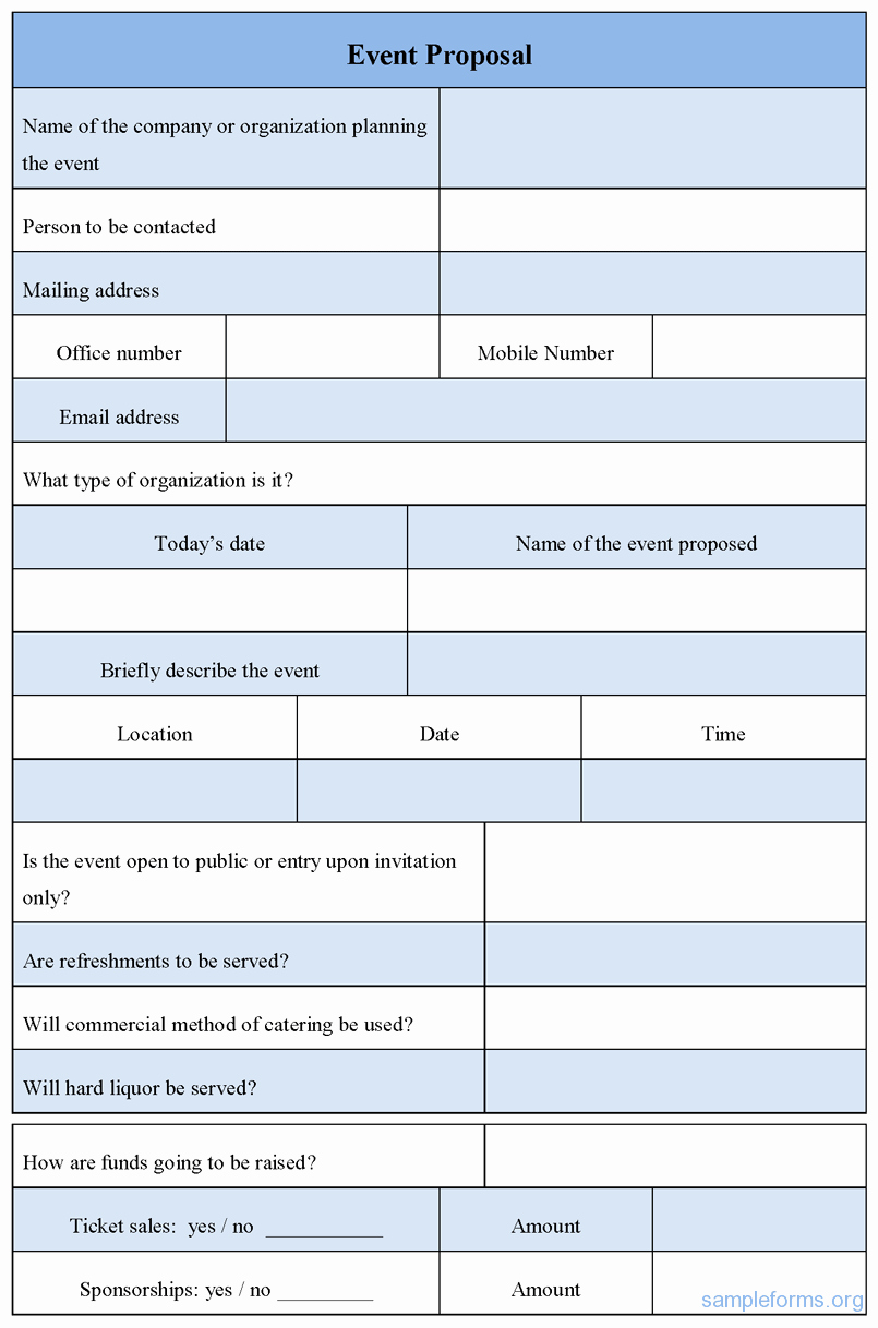 perfect event proposal template