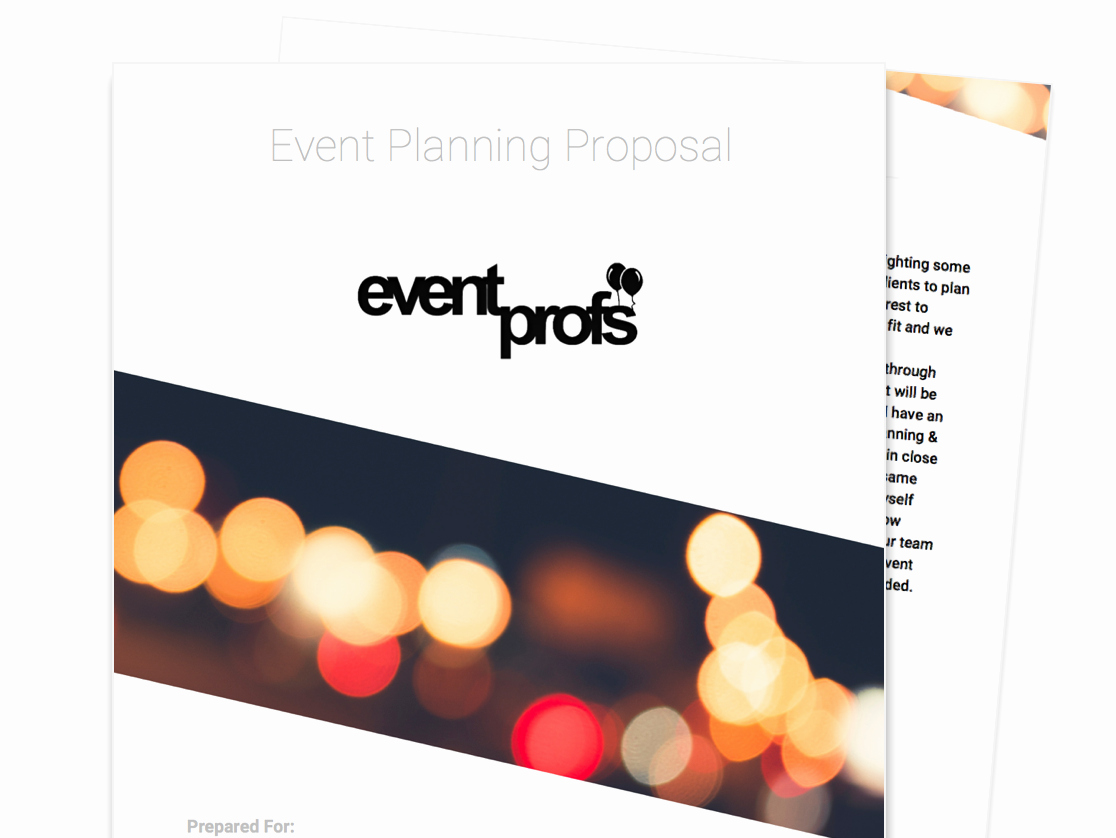 Event Planning Proposal Template Beautiful Free Business Proposal Templates