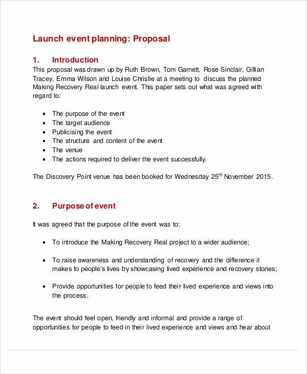 Event Planning Proposal Template Best Of 52 event Proposal Samples