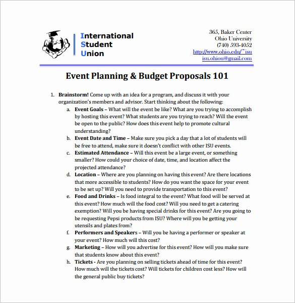 Event Planning Proposal Template Best Of event Planning Proposal Example Pdf Templates Resume