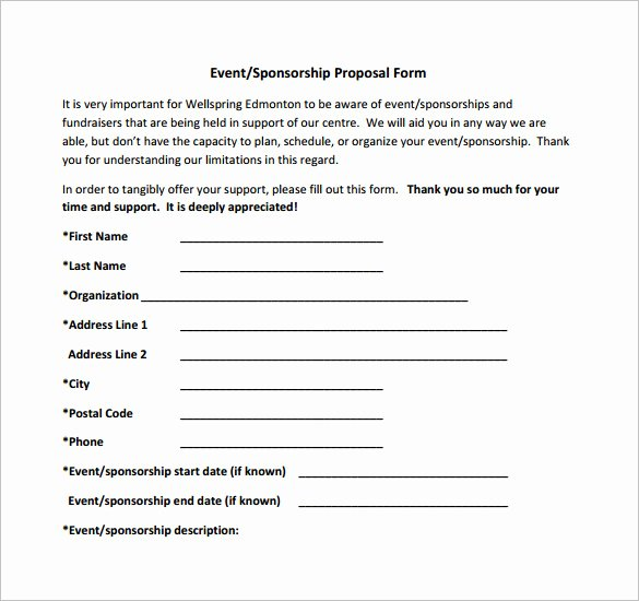 Event Planning Proposal Template Inspirational Sponsorship Proposal Template 10 Free Word Pdf format