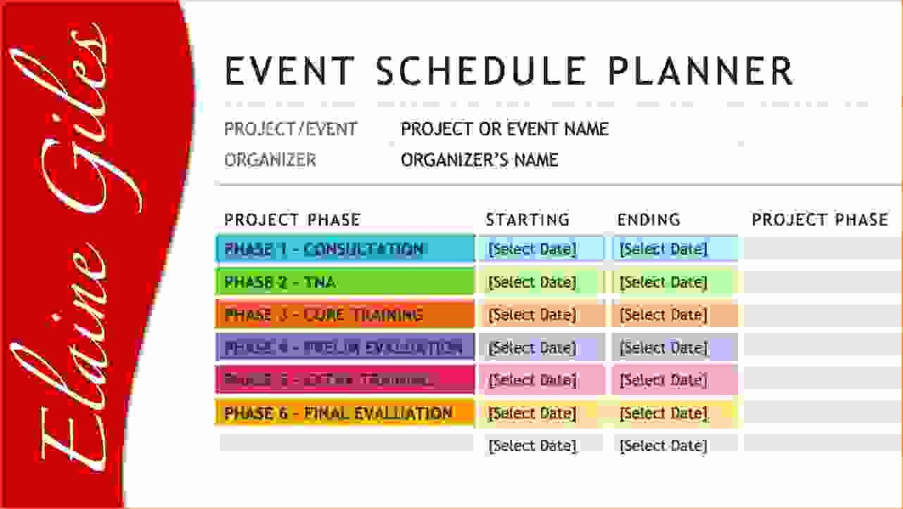 Event Planning Schedule Template Best Of 4 event Schedule Template