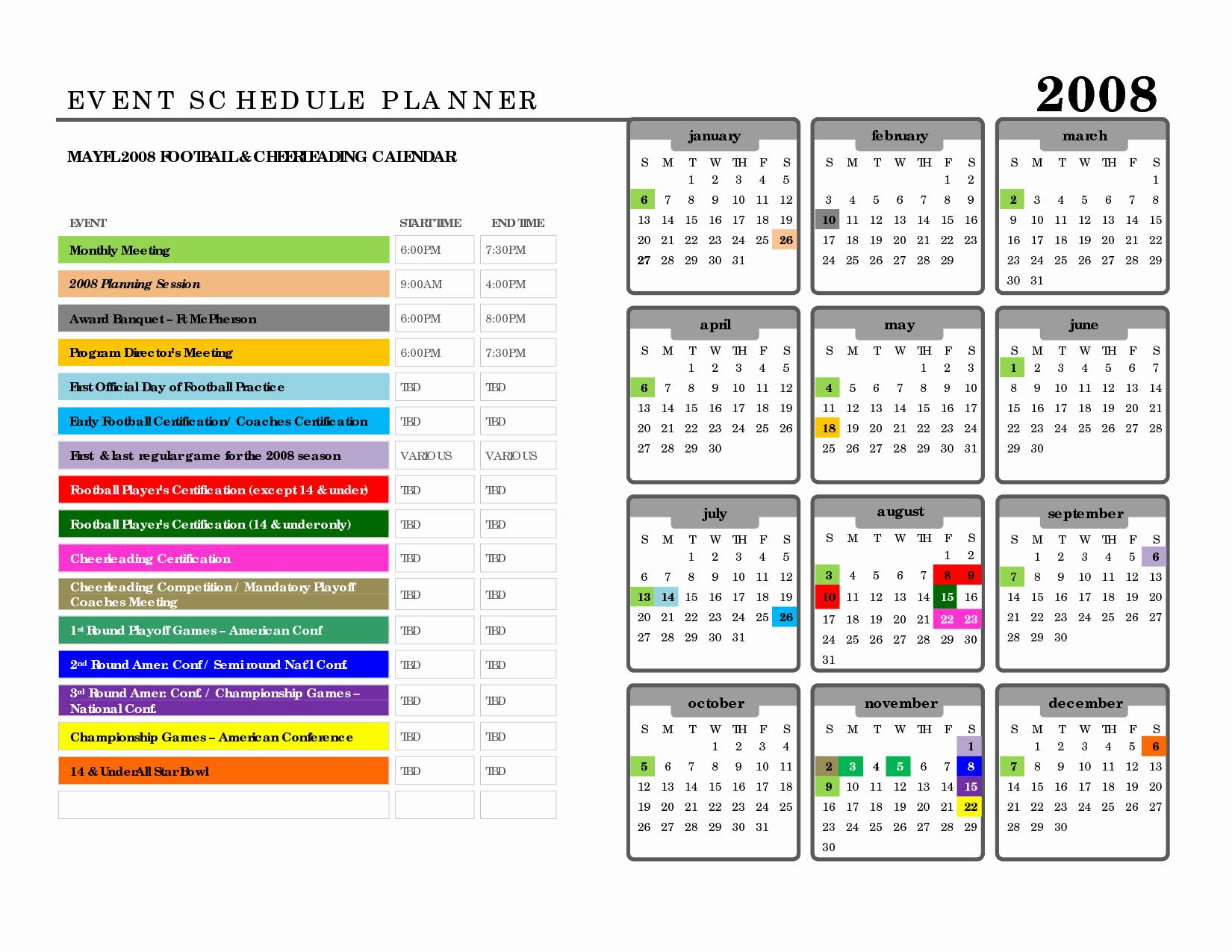 Event Planning Schedule Template Fresh 10 Best Of event Agenda Schedule Template