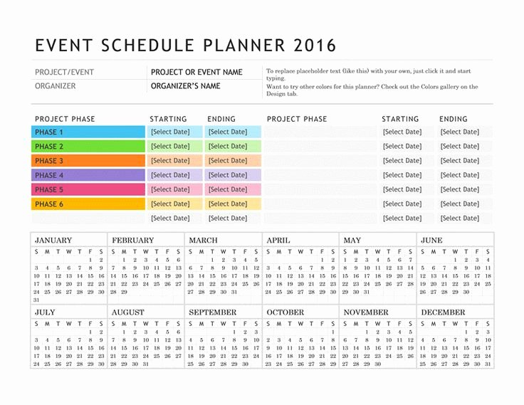 Event Planning Schedule Template Fresh Free Digital or Printable Calendar Templates for Microsoft