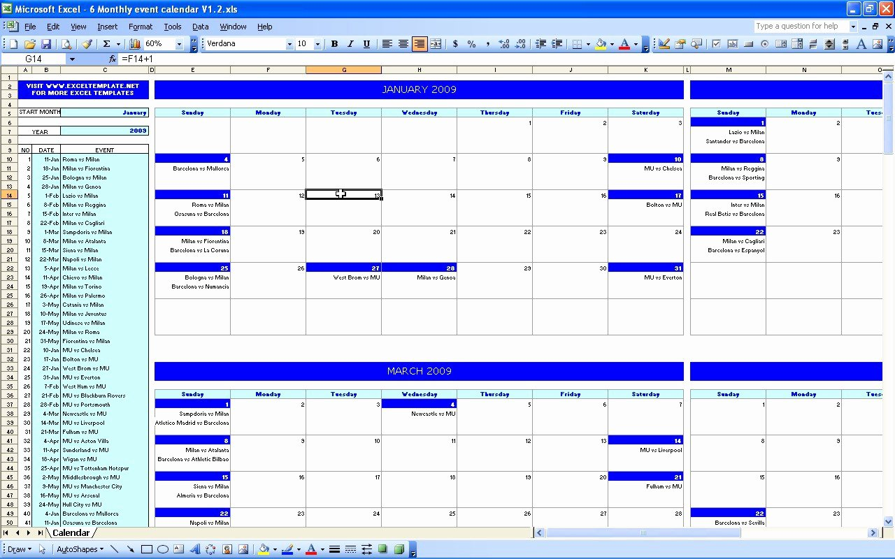 Event Planning Schedule Template Inspirational event Calendar Excel Template