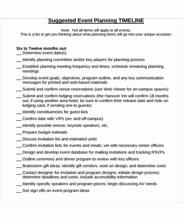Event Planning Schedule Template Luxury event Production Schedule Template 8 Free Word Pdf