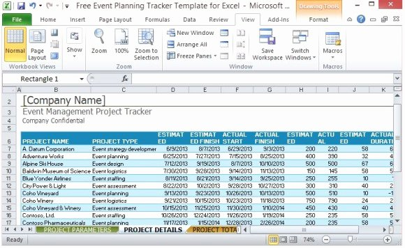 Event Planning Schedule Template Luxury Free event Planning Tracker Template for Excel