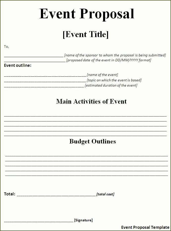 Event Planning Template Free Lovely event Proposal Template Free Word Templatesfree Word