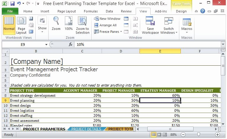 Event Planning Template Free Unique Free event Planning Tracker Template for Excel